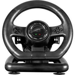 SPEEDLINK Black Bolt Racing Wheel for PC with Vibration Effects and Pedals Black SL650300BK