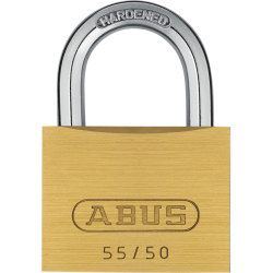 Abus 55 Series Basic Brass Padlock 50mm Standard