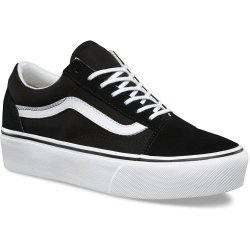 Vans UA OLD SKOOL PLATFOR women's Shoes (Trainers) in Black