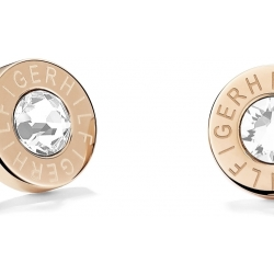 Ladies Tommy Hilfiger Rose Gold Plated Earrings 2700752