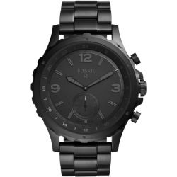 Fossil Men Hybrid Smartwatch Nate Black Stainless Steel One size