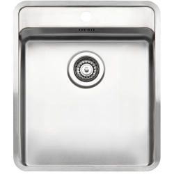 Reginox Ohio 40x40 Inset Stainless Steel Sink Single Bowl with Tapwing and Waste Included