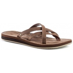 Teva Women's Olowahu Leather Sandals size 6 brown sand