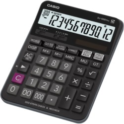 Casio DJ 120DPLUS Desk calculator Black Display (digits) 12 solar powered battery powered (W x H x D) 144 x 34.6 x 192 mm