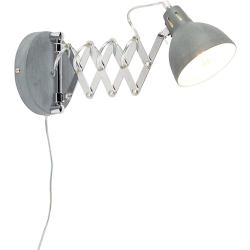 Industrial wall lamp gray adjustable Forbici