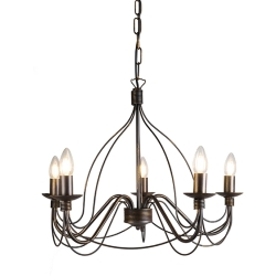 Classic chandelier brown Zero Branco 5