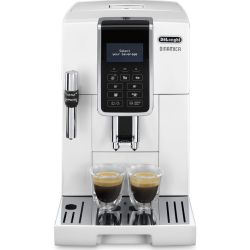 DELONGHI Dinamica ECAM 350.35.W Bean to Cup Coffee Machine Black Silver White