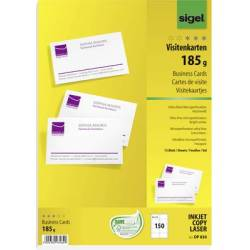 Sigel DP830 Printable business cards (micro perforated) 85 x 55 mm Bright white 150 pc(s) Paper size A4