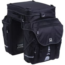 Willex Bicycle Panniers with Top Bag XL 1200 65 L Black 13411