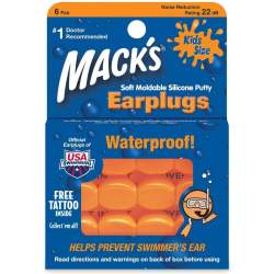 Macks Kids Silicone Ear Plugs Orange O S (one size)