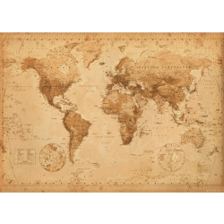 World Map Antique Style Giant Poster 100 x 140cm