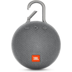 Jbl Jbl Clip3 Wireless Bluetooth Ultra Portable And Rugged Speaker With Integrated Carabiner Clip And Up To 10 Hours Playtime Grey