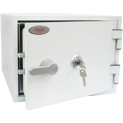 Phoenix Titan Fire and Security Safe with Key Lock Size 1 White