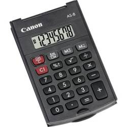Canon AS 8 Pocket calculator Dark grey Display (digits) 8 battery powered (W x H x D) 60 x 11.4 x 97 mm