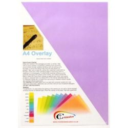 Keytools Crossbow Education A4 Overlay 5 pack Purple. Designed to...