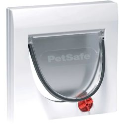PetSafe Manual 4 Way Cat Flap with Tunnel Classic 917 White 5030
