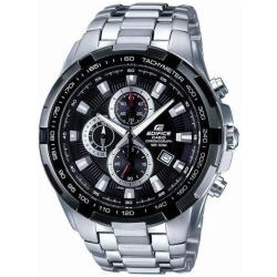 Chronograph Wristwatch EF 539D 1AVEF (L x W x H) 53.5 x 48.5 x 11.5 mm Silver Black Enclosure material Stainless steel Material (watch strap) Stainless steel