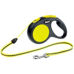 Flexi Retractable Leash New Classic S 5 m Black and Neon 20911