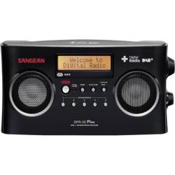 Sangean DPR 25 Portable radio DAB FM AUX Battery charger Black