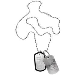 Mens Diesel Stainless Steel Necklace