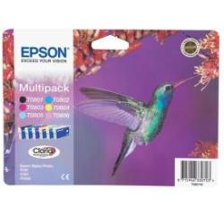 Epson C13T08074011 (T0807) Ink cartridge multi pack 220 pages 6x7 4ml Pack qty 6
