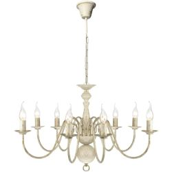 vidaXL Antique White Metal Chandelier 8 x E14 Bulbs