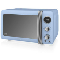 Swan SM22030BLN Retro Style Microwave Oven in Blue 20 Litre 800W