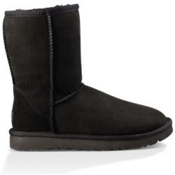 UGG Women's Classic Short II Sheepskin Boots Black UK 8