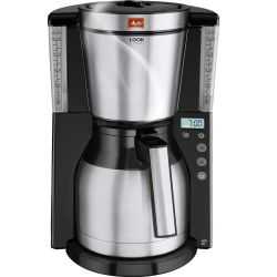 MELITTA Look IV Therm Timer Filter Coffee Machine Black Stainless Steel Stainless Steel