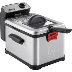 Princess Superior Cold zone fryer 3200 W with manual temperature settings Stainless steel Black
