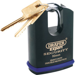 Draper Expert Heavy Duty Padlock Closed Shackle 50mm Standard