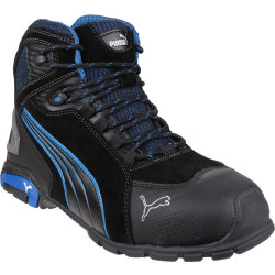 Puma Mens Safety Rio Mid Safety Boots Black Size 10