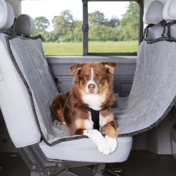 TRIXIE Car Back Seat Cover for Dogs 160x145 cm Light Grey