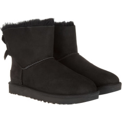 UGG Boots Booties W Mini Bailey Bow II Black black Boots Booties for ladies