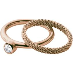 Ladies Skagen Rose Gold Plated Size M.5 Elin Ring
