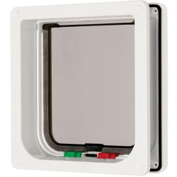 Cat Mate Large Cat Flap 4 Way Lock White Cat Flap