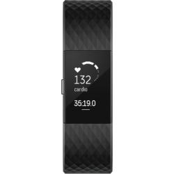 Unisex Fitbit Charge 2 Special Edition Bluetooth Fitness Activity Tracker Watch FB407GMBKS EU