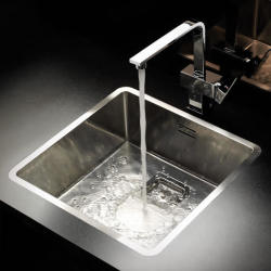 Reginox Texas 40 x 40 Integrated Stainless Steel Kitchen Sink Single Bowl with Waste Included