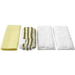 Karcher Various Floor Tool Bathroom Microfibre Cloths for SC DE and SG Steam Cleaners Pack of 4